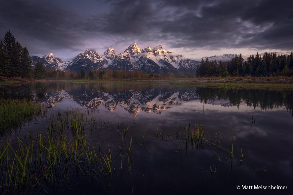 "Today's Photo Of The Day is ""The Departing Night"" by Matt Meisenheimer. Location: Grand Teton National Park, Wyoming."