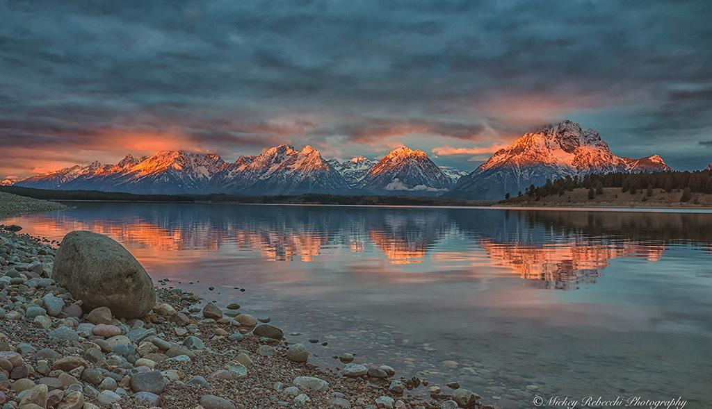 "Today's Photo Of The Day is ""First Light"" by Mickey Rebecchi. Location: Grand Teton National Park, Wyoming."