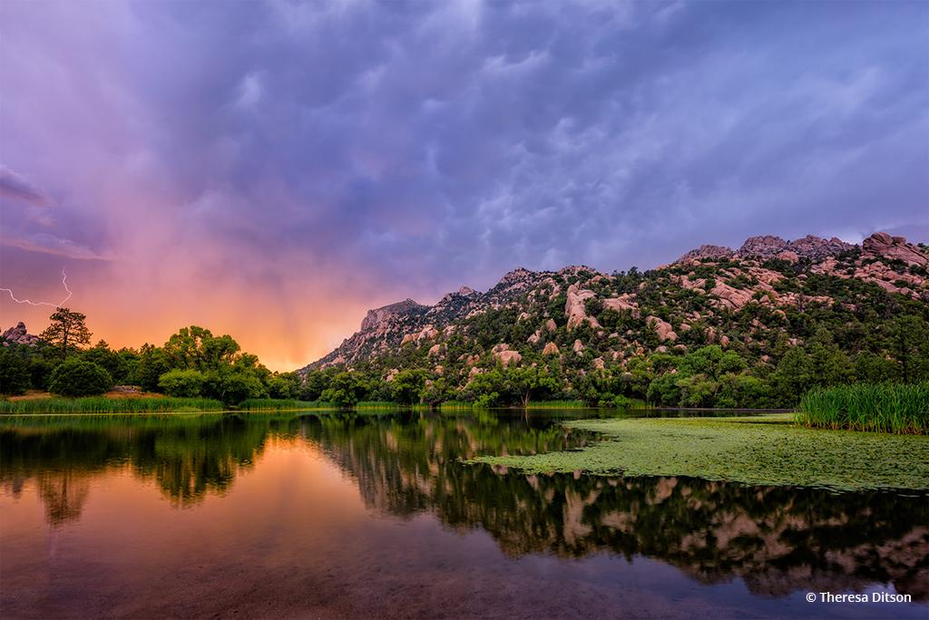 "Today's Photo Of The Day is ""Striking Sunset"" by Theresa Ditson. Location: Prescott, Arizona."