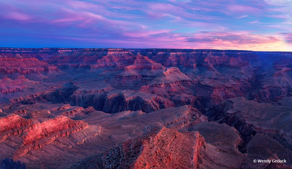 "Today's Photo Of The Day is ""Canyon Sunrise Glow"" by Wendy Gedack. Location: Grand Canyon National Park, Arizona."